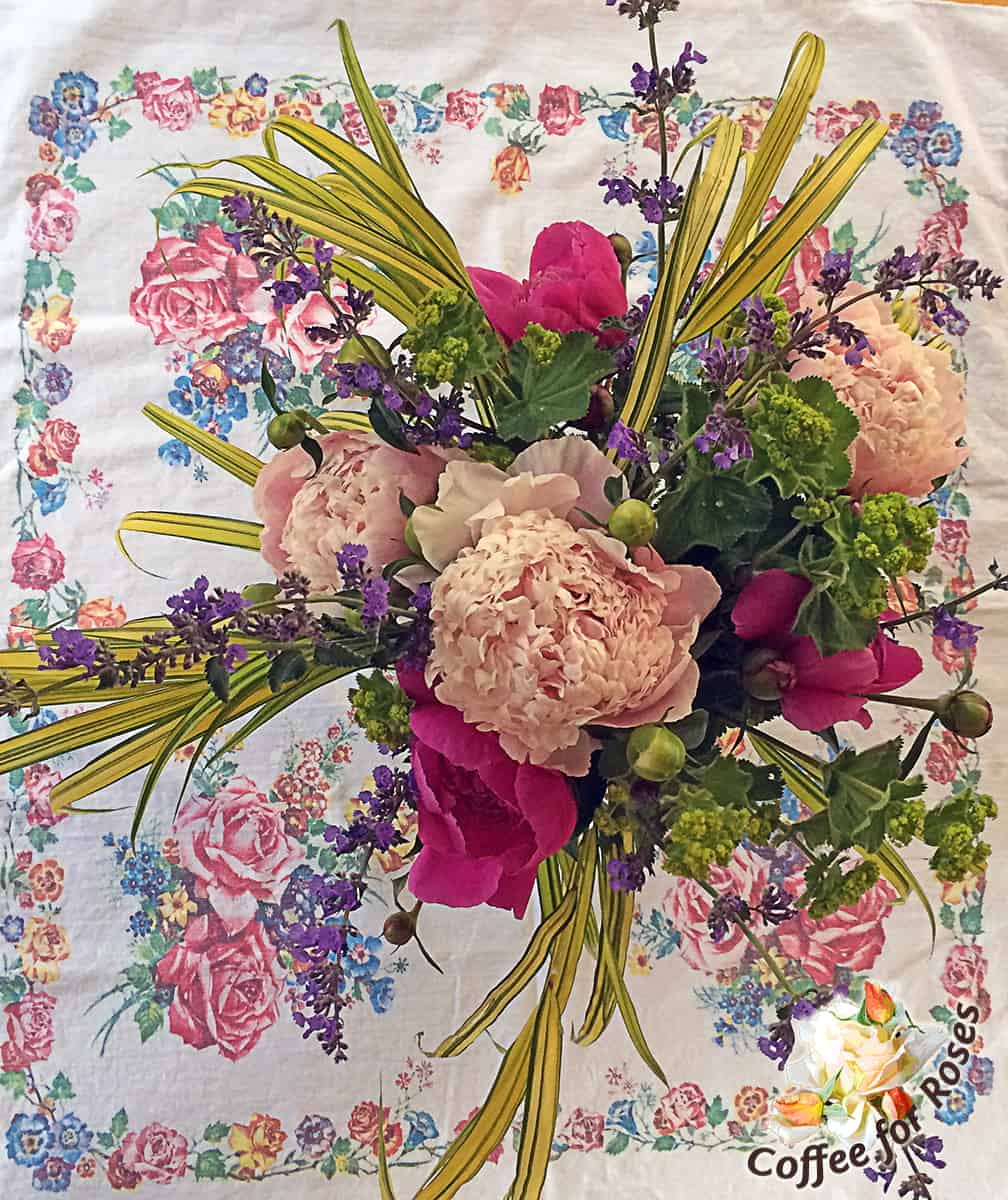 And when you combine the peonies with nepeta, lady's mantle and the hakon grass you can't go wrong!