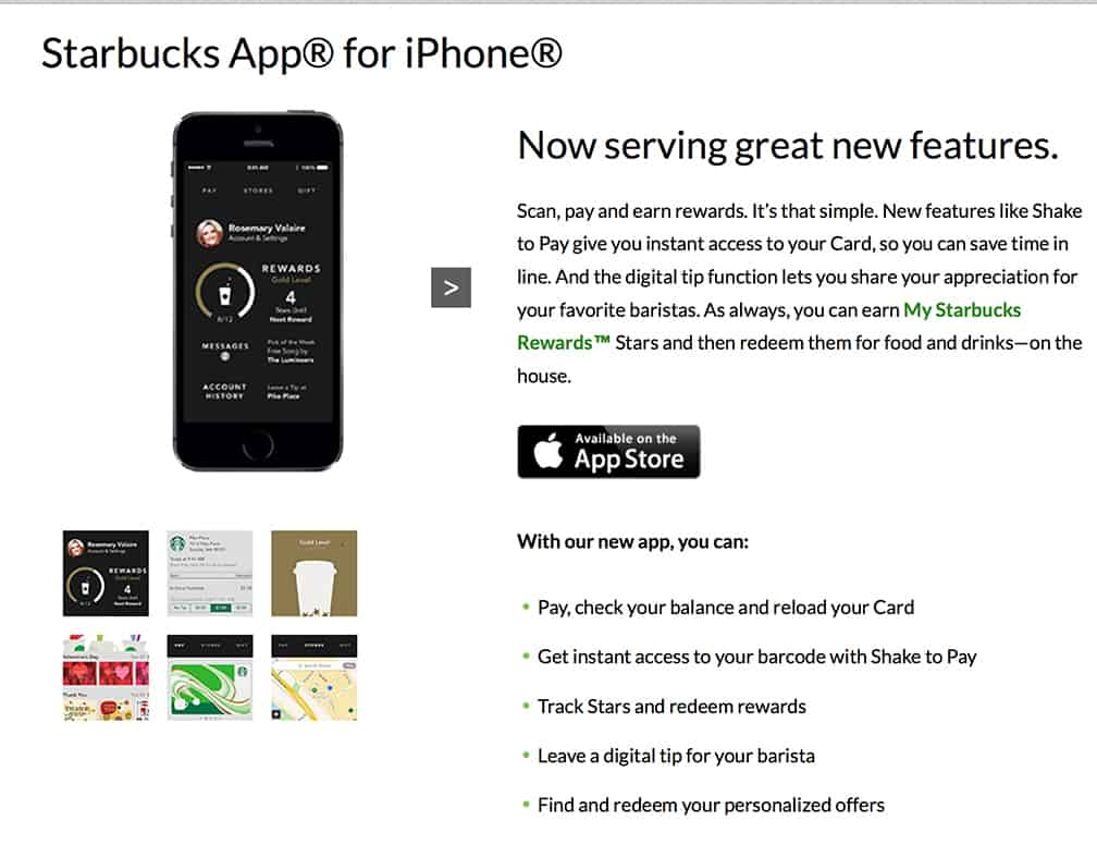 If the coffee lover you know has an iPhone jump-start their Starbucks App so they can flash their phone to buy a coffee.