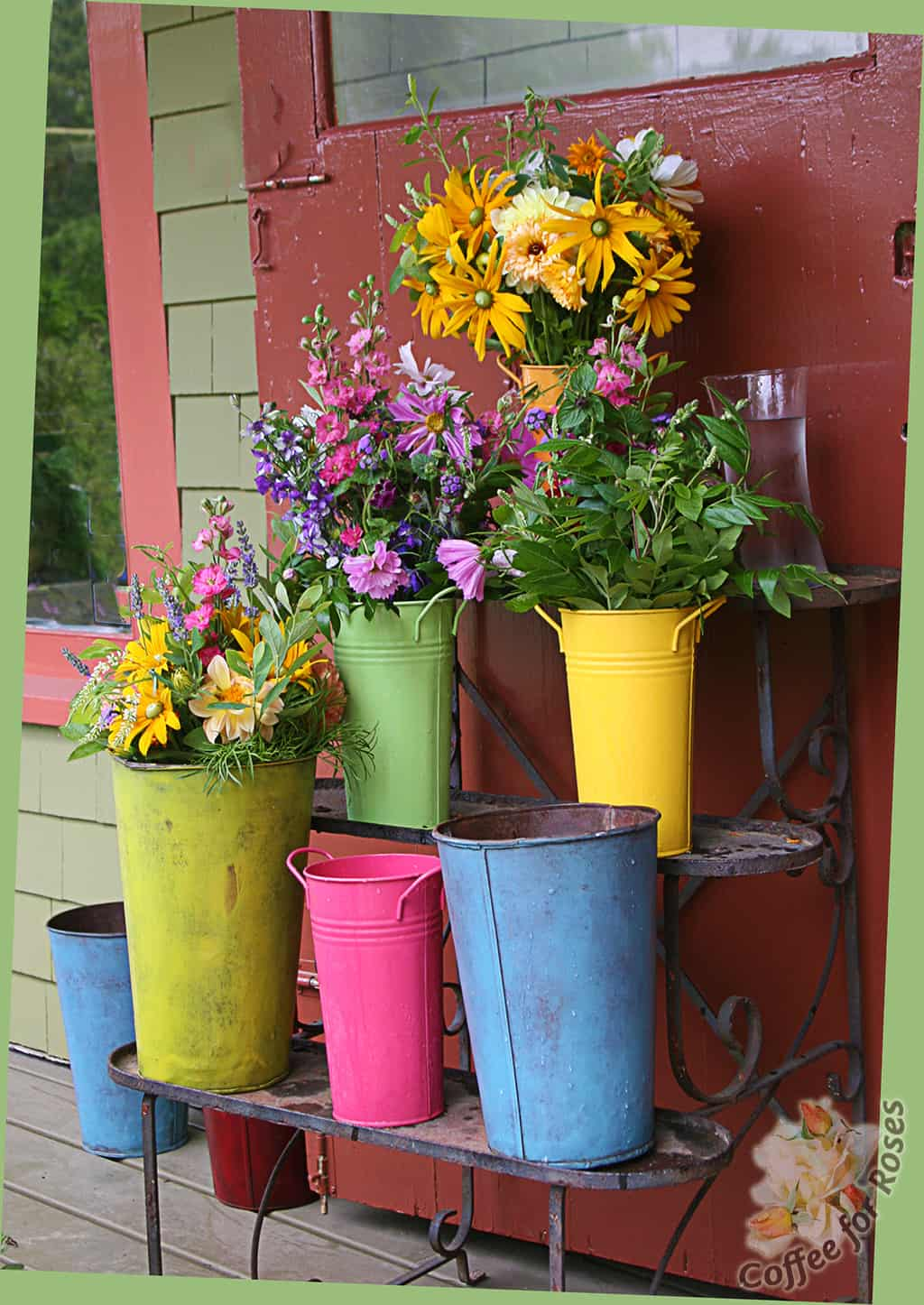 Painted Objects for Garden Displays