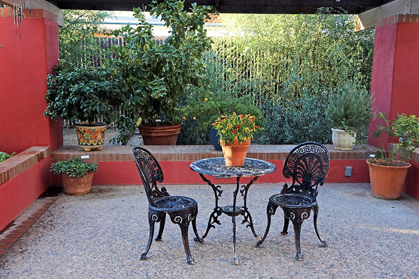 One of the extremely useful display areas is a section with different themed patios. Arizona residents are sure to be inspired by these outdoor living displays and the plants they contain.