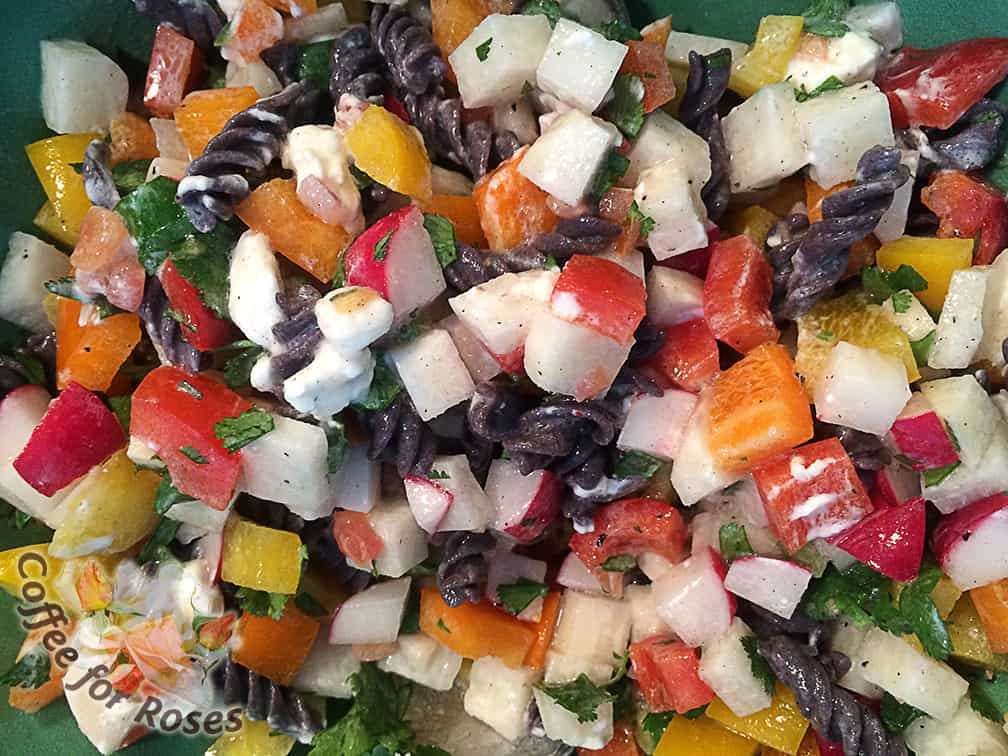 If you use spicy salsa this salad has both freshness and heat!